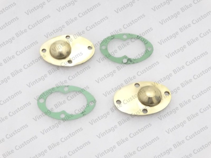 ROYAL ENFIELD OIL PUMP COVER PLATE BRASS WITH GASKET