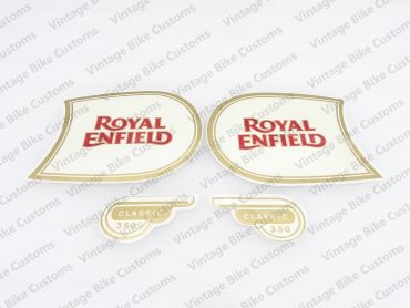ROYAL ENFIELD CLASSIC 350 FUEL TANK AND TOOL BOX STICKER SET