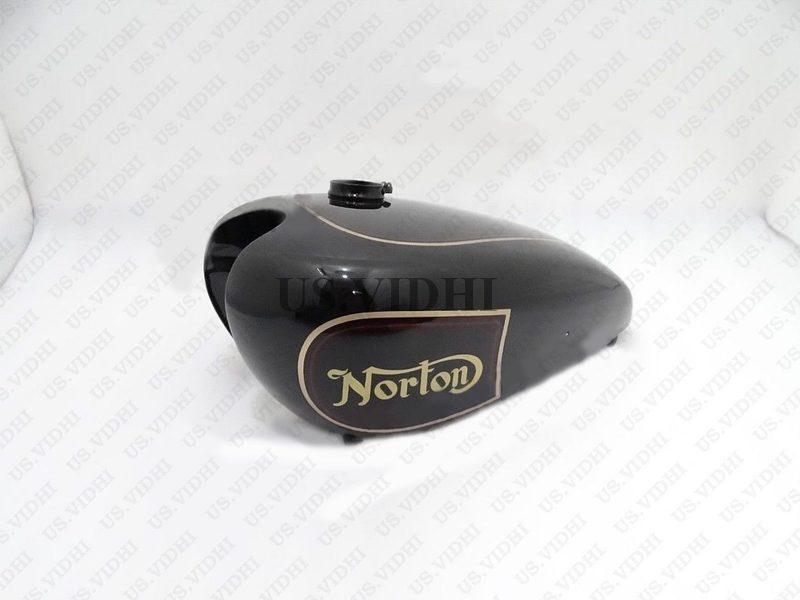 NORTON 16H BLACK PAINTED Steel PETROL TANK