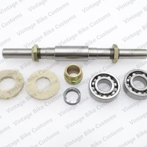 ROYAL ENFIELD FRONT WHEEL AXLE WITH SPACERS AND BEARINGS (DRUM BRAKES)