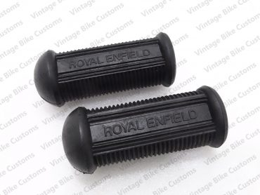 ROYAL ENFIELD  LOGO EMBOSSED FOOTREST RUBBER PAIR