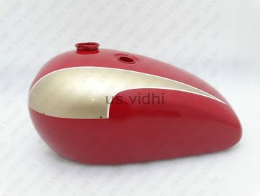 TRIUMPH T140 RED & GOLDEN PAINTED PETROL FUEL TANK