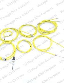 LAMBRETTA  GP SCOOTER COMPLETE CABLE KIT SOLUTION (YELLOW)