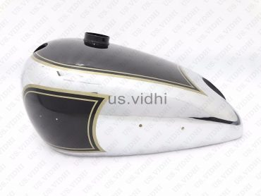 MATCHLESS G3L 3 GALLON BLACK PAINTED CHROME PETROL FUEL TANK