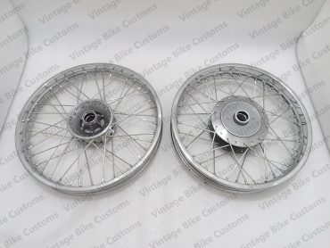 """ROYAL ENFIELD 19"""" FRONT & 18"""" REAR WHEEL RIM SET FOR CLASSIC C5 UCE"""