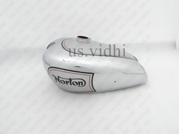 NORTON ES2 CHROMED AND SLIVER PAINTED PETROL FUEL TANK