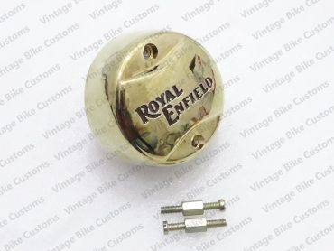 ROYAL ENFIELD BRASS COLORED  PLASTIC DISTRIBUTOR COVER WITH SCREW