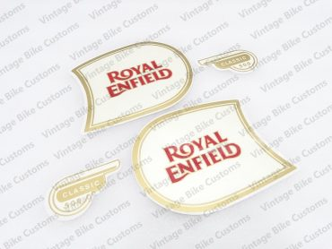 ROYAL ENFIELD CLASSIC 500 FUEL TANK AND TOOL BOX STICKER SET