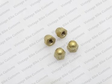 ROYAL ENFIELD BRASS SHOCKERS DOME NUTS (4 NUTS)