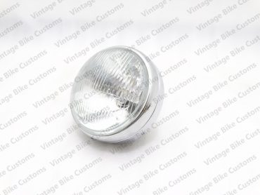"""ROYAL ENFIELD 7"""" COMPLETE HEADLIGHT WITH BULB"""