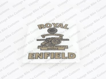 ROYAL ENFIELD INDIA LTD. MADRAS MADE LIKE A GUN STICKER