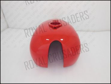 BSA SPIT FIRE HORNET 2 GALLON RED & WHITE PAINTED PETROL FUEL TANK
