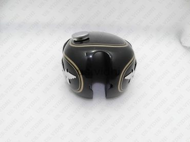 MATCHLESS (SINGLE CYLINDER) BLACK PETROL FUEL TANK +BADGE+CAP+PADS+TAP