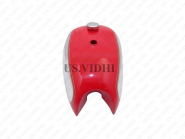 BSA A7 A10 SUPER ROCKET RED PAINTED CHROME PETROL FUEL TANK