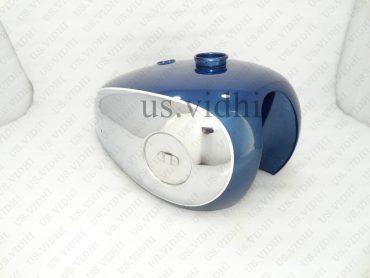 BSA A7 A10 BLUE PAINTED CHROMED PETROL FUEL TANK
