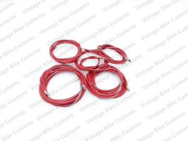 LAMBRETTA  GP SCOOTER COMPLETE CABLE KIT SOLUTION (RED)