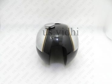 TRIUMPH T140 BLACK & SILVER PAINTED PETROL FUEL TANK WITH CAP