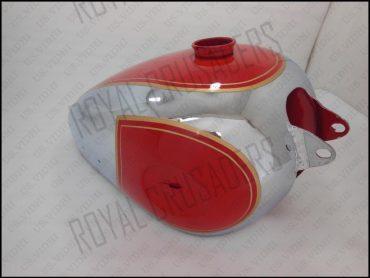 BSA B31 B33 PLUNGER MODEL RED PAINTED CHROME PETROL FUEL TANK