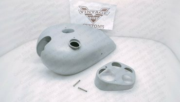 Ajs S8 1930'S Deluxe Raw Steel Petrol Fuel Tank With Meter Plate